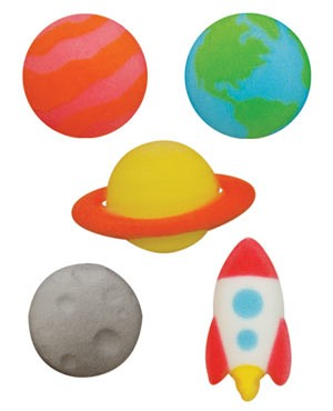 Outer Space Assortment Sugars - 80 Pack