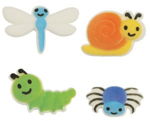 Cute As A Bug Assortment Sugars - 102 Pack