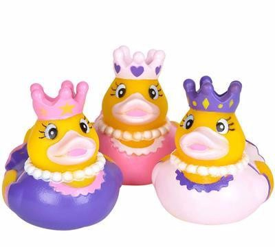 "2"" Princess Rubber Ducks - 12 count"
