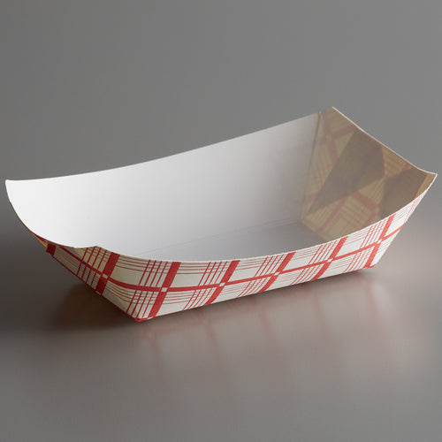 Red & White Checkered Food Trays - 2.5 lb