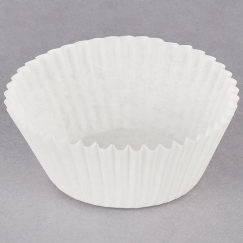 White (Transparent) Fluted Baking Cups - Jumbo Size