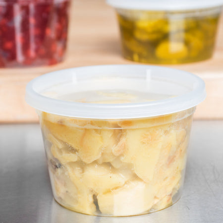 Food Storage Containers with Lids - 16 oz.