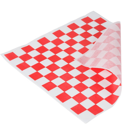 Red & White Checkered Deli Wrap Paper