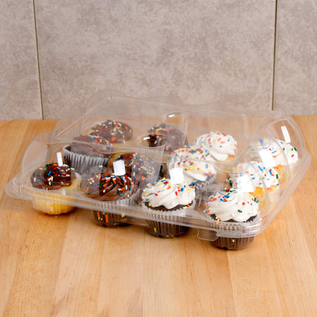 High Domed Cupcake Container - 12 Compartments