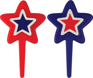 Red, White & Blue Star Picks - Assorted - 144 Pack