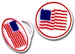 American Flag Ring - 72 Pack