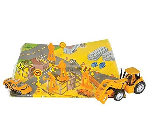 14-Piece Construction Playset with Map
