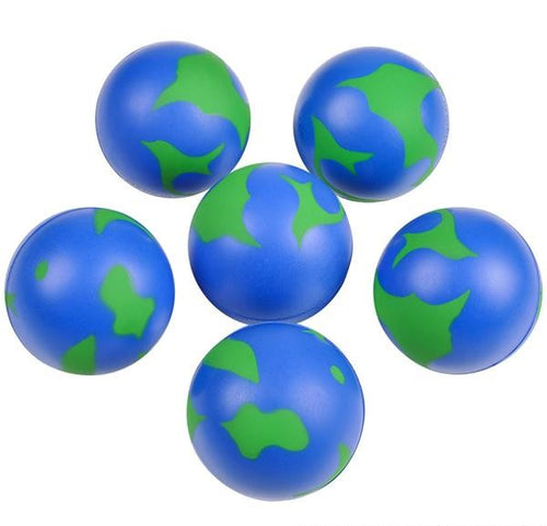 Earth Squeezable Foam Stress Ball 12 pk