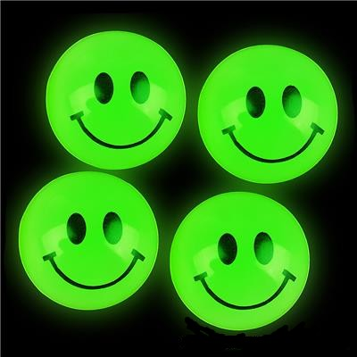 Glow in the Dark Smile Face Balls 144 ct