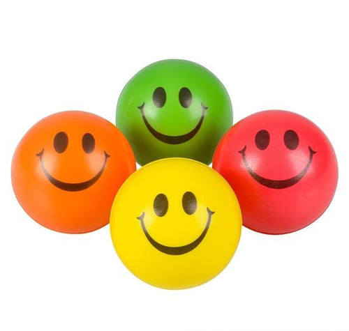 Mini Smile Face Relaxable Balls 12 ct