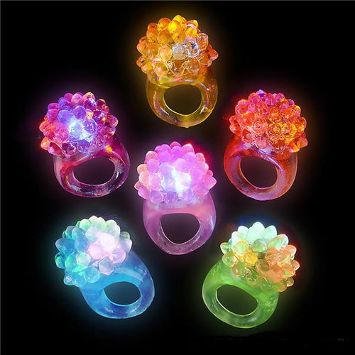 Flashing Led Bumpy Ring 12 pk
