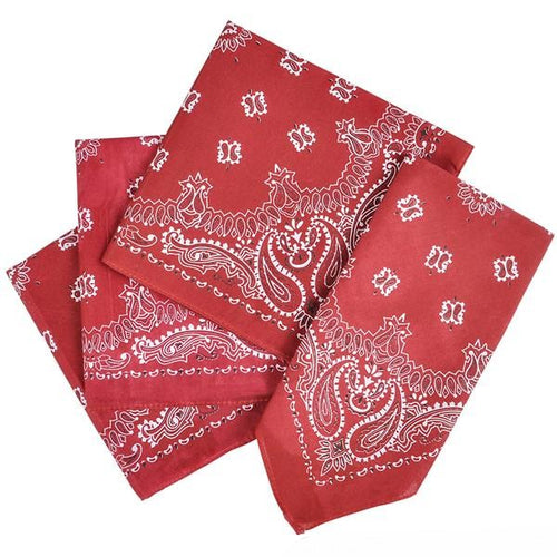Western Bandanna Red 12 pack