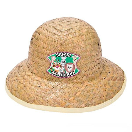 Childs Straw Safari Hat 12 pk