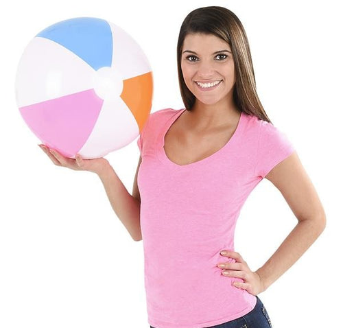 Assorted Color Beach Balls 12 pk