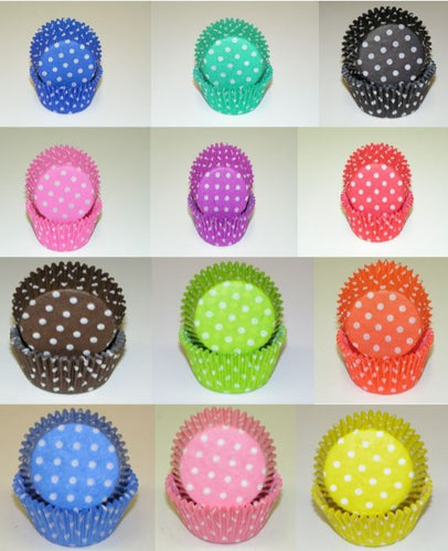 Baking Cup Liners - Standard Size - Polka Dot Styles
