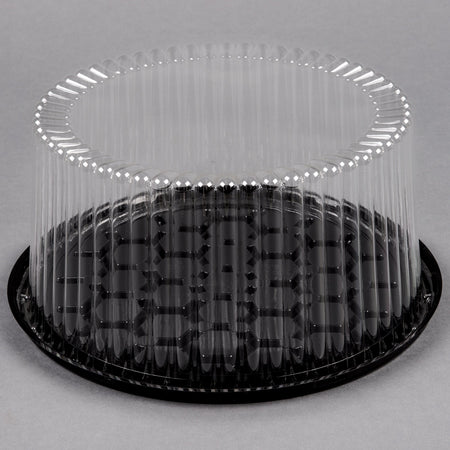 "9"" 2-3 Layer Cake Display Container w/ Clear Dome Lid"