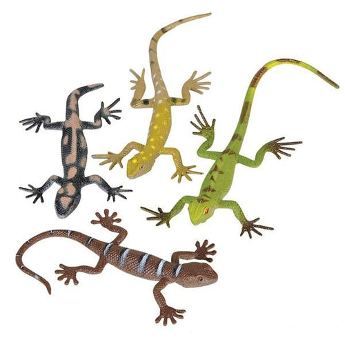 Assorted Plastic Toy Lizards 12 pk