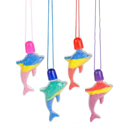 Dolphin Sand Art Necklaces 12 ct