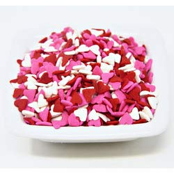 Valentine's Hearts Sprinkle Sequins - Red, White and Pink Heart Shapes