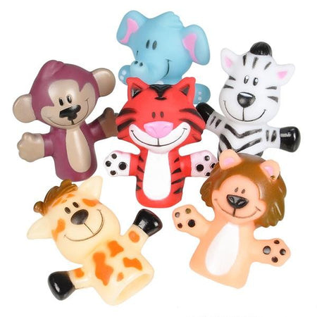 Zoo Animal Finger Puppets 12 pk