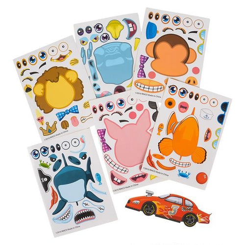 Make-an-Animal, Race Car, Tooth Sticker Sheets 96 pk