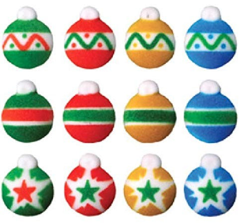 Christmas Ornaments Mini Sugar Shapes 12 ct