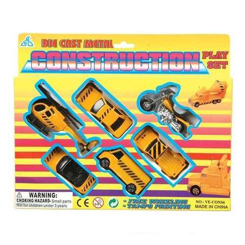 Construction Vehicles Die-Cast Playset