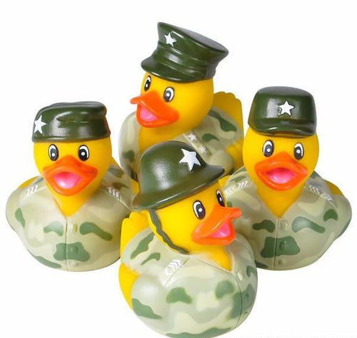 CAMO ARMY RUBBER DUCKIES - 12 PIECES