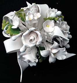 Tea Rose & African Orchid Bouquet