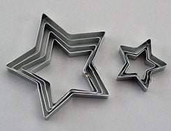 Stainless Steel Star (5 Pt.) Cutter Set - 7 Pcs