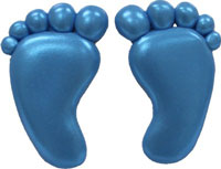 Small Baby Feet Silicone Mold