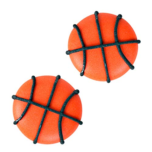Edible Royal Icing Decorations - Basketball Shapes - 12 count