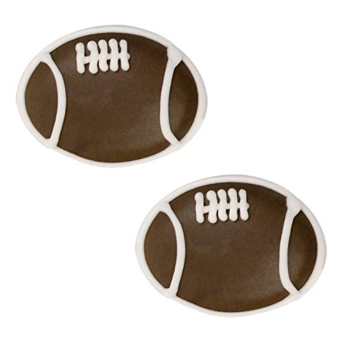 Edible Royal Icing Decorations - Football Shapes - 12 count