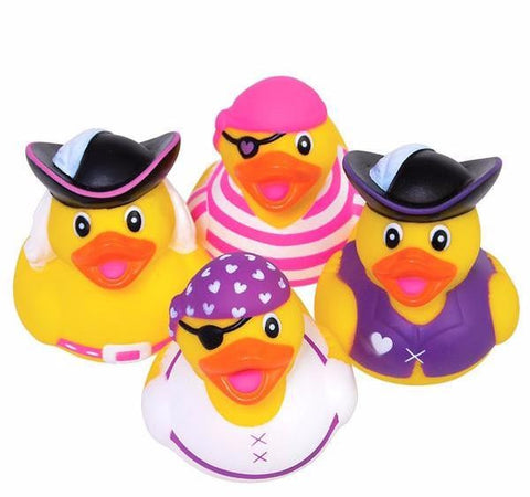 GIRLY PIRATE RUBBER DUCKIES - 12 COUNT