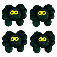 Edible Mini Spiders with Yellow Eyes 120 pcs