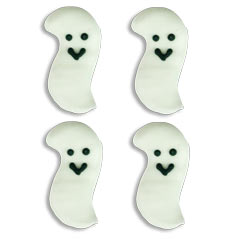 Smiling Ghosts Edible Royal Icing Decoration 168 ct