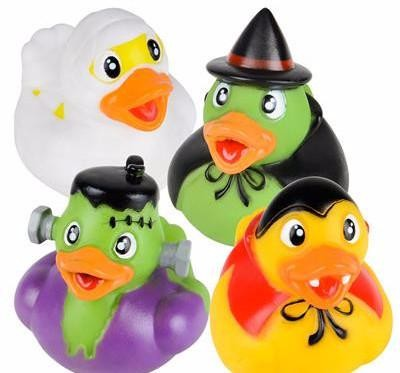 Halloween Monster Rubber Ducks - 12 count