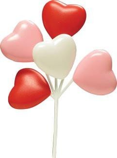 Heart Balloons - Pink/White/Red - 36 Count
