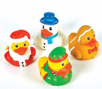 Holiday Rubber Ducks - 12 count
