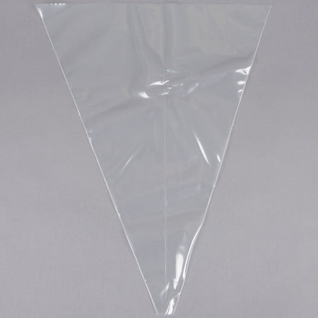 "18"" Clear Dual-Color Striping Piping Bags - Pack of 10"