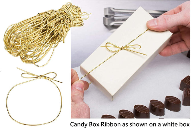 Valentine's Day 1 lb. Candy Boxes Kit - 12 boxes, 12 pads & 12 gold loop ribbons