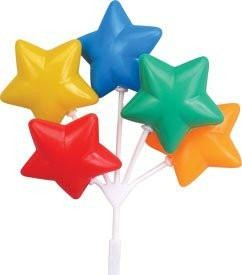 Star Balloon Clusters - Primary Colors - 36 Count