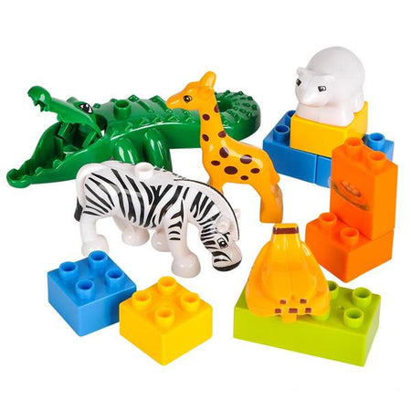 13 Piece Zoo Block Playset