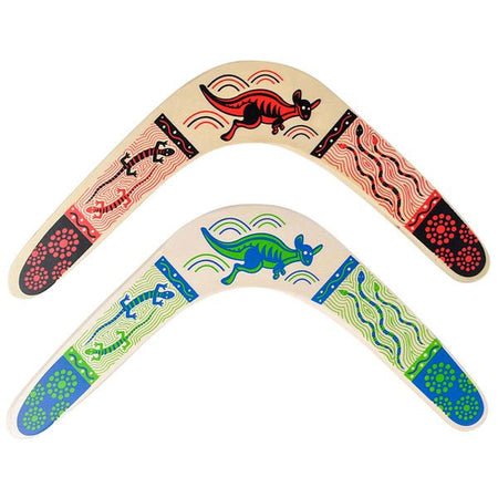 "14.5"" Wooden Boomerang, Assorted Colors"