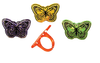 Butterfly Rings in Assorted Colors 144 ct