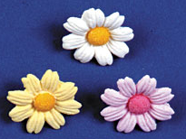 Daisies - Medium - White 180 pcs