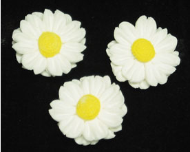 Daisy Petite (No Wire) - White 36 pieces