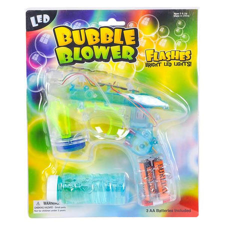 Transparent LED Flash Bubble Gun