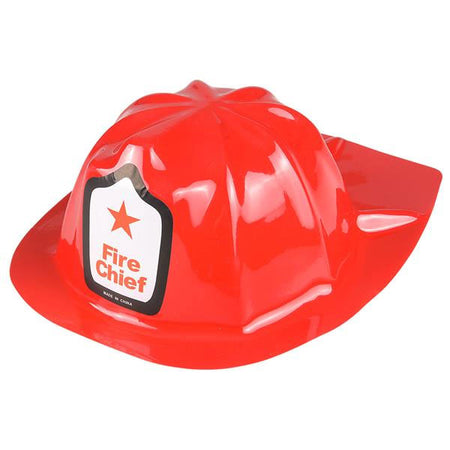 Childrens Plastic Firefighter Chief Hat 12 ct