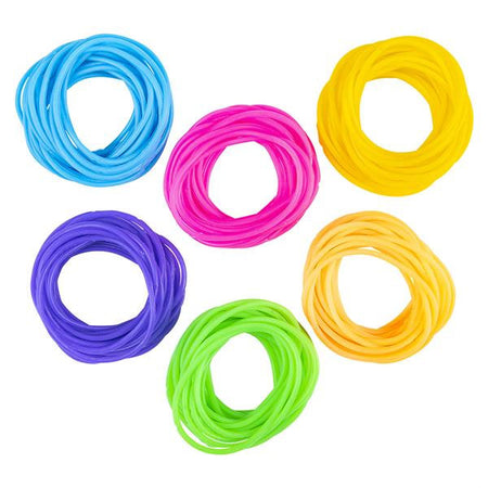 Assorted Neon Color Jelly Bracelets 144 pk